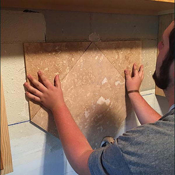 Kitchen Remodel Tiling Design