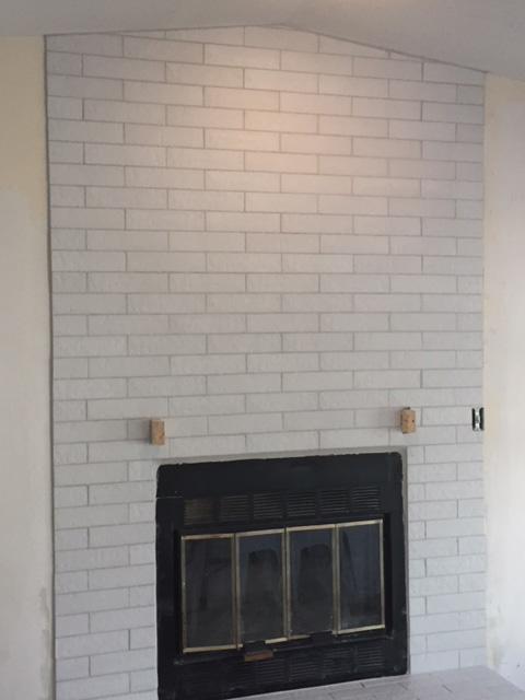 Tiling Fireplace Finish