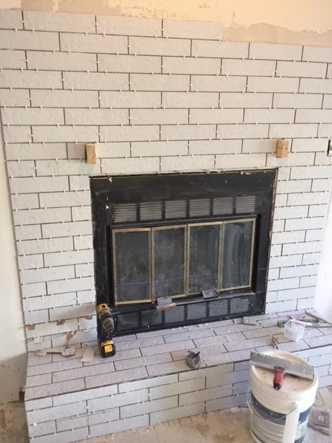 Tiling Fireplace Spacing